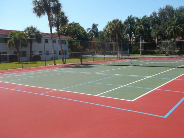 pickleball court from tennis court